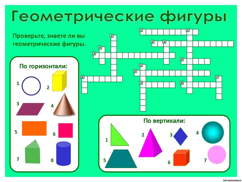 Кроссворд по математике 5 класс на тему окружность